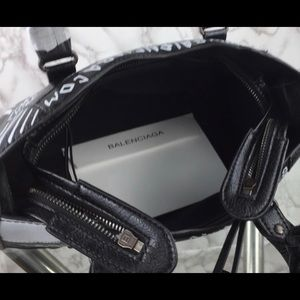 Balenciaga Bags - Balenciaga City Graffiti Handbag Leather Small